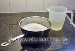 Nur Wasser und Zucker. Mehr braucht es nicht. (Foto: eis-machen.de / Erich Eggimann)