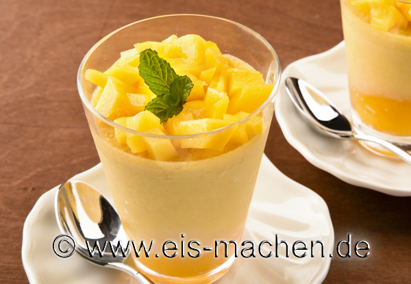 eis rezept mango parfait im glas selber machen. Black Bedroom Furniture Sets. Home Design Ideas